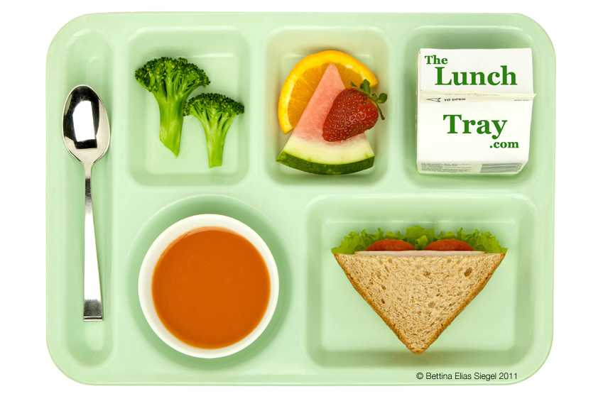 Green Lunch Tray